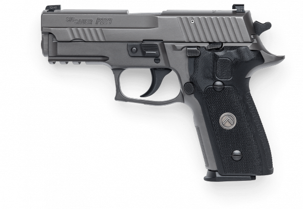 "Sig Sauer, P226 Legion, Double Action/Single Action, Full Size, 357 Sig, 4.4"" Barrel, Alloy Frame, Legion Gray PVD Finish, Black G10 Grips, 12Rd, 3 Mags, SRT Trigger, Electro-Optics X-RAY3 High Visibility Day/Night Sights"