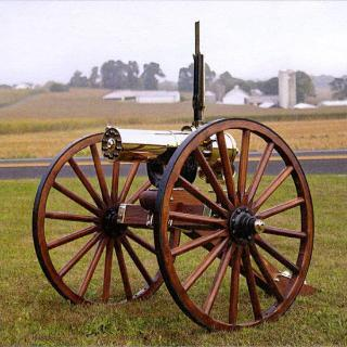 Colt Gatling Gun, 1877 BULLDOG, 10 Barrel, Carriage