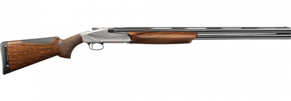 "Benelli 828U Engraved, Nickel Plated Receiver 12-Gauge 2-3/4"" and 3"""