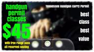 Tennessee Carry Permit Class - One for $45!