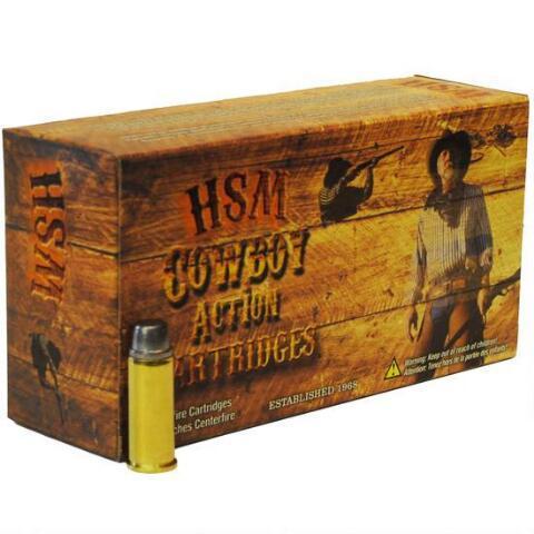 HSM AMMO COWBOY ACTION 44MAG 200GR RNFP-HARD