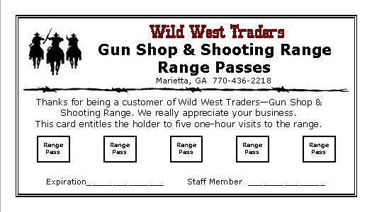 Online Gun Orders Receive 5 FREE Range Passes