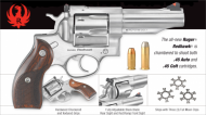 RUGER Redhawk Convertible Double-Action .45 Auto/.45 Long Colt 4.2 Inch Stainless Steel Barrel Satin Finish Hardwood Grips 6 Round