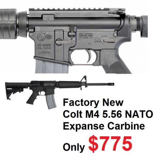"COLT ""Zombie In Desguise"" M4 Expanse Carbine 5.56mm NATO/.223 Remington 16.1 Inch Barrel Matte Black Finish A2 Front Sight Adjustable Stock 30 Round"