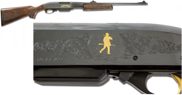 REM Model 7600 200th Anniversary Limited Edition Engraved .30-06 Springfield 22 Inch Barrel Blue Finish Peep Sights American Walnut Stock 4 Round