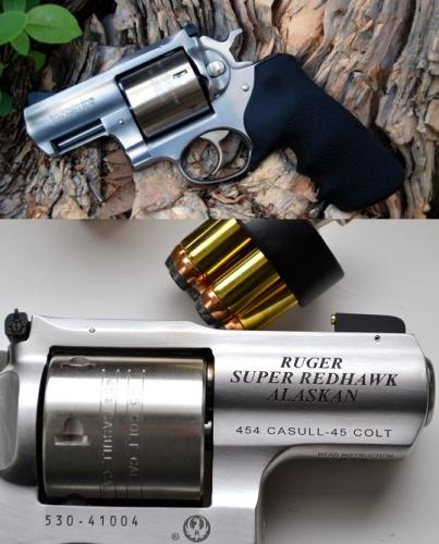 Ruger 5301 Super Redhawk Alaskan .454 Casull 2.5 Inch Barrel Satin Stainless Steel Finish 6 Round