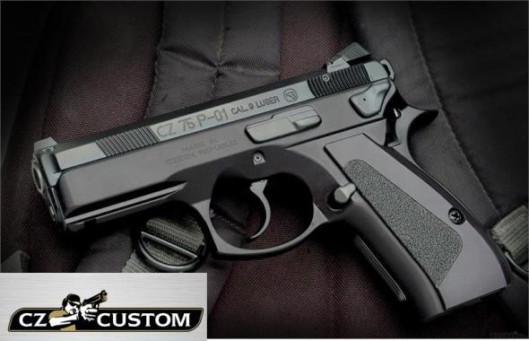 "CZ 75 (CZ FACTORY CUSTOM SHOP) Compact Semi Auto Handgun 9mm 3.8"" Barrel 14 Rounds Rubber Grips Black Polycoat Finish Decocker 91199 💲💲Cash $1379.95💲💲"