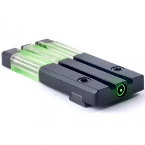 Mako Group Meprolight FT Bullseye Remington R1 Green Tritium Rear Sight  Steel Black Finish