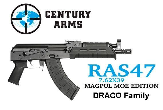 "Century RAS47 AK-47 Pistol Type 7.62X39 10.25"" Barrel Steel Frame 30Rd"