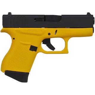 "Awesome!! Glock 43 G43 9mm, 3.39"" Barrel, 6 Rounds Yellow Frame Black Slide 💲💲Cash $479.95💲💲"