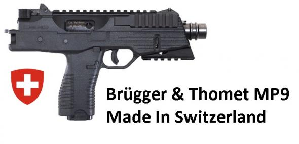 Exotic Import!!! Brugger & Thomet AG (DS ARMS IMP) TP-9 US 9 MM Machine Pistol Type SWISS Made 30 RDS