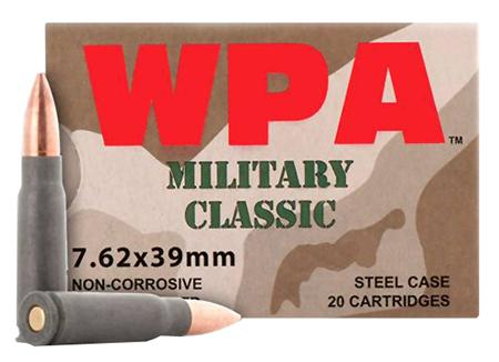Wolf MC762BFMJ Military Classic Steel Case 7.62X39mm 124 GR FMJ 20 Rounds Per Box 💲💲Cash $5.29💲💲