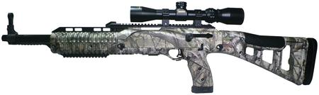 Hi-Point Model 9TS Hunter Carbine 9mm 16 5 Inch Barrel Blue Finish Target  Stock Woodland Camouflage Finish Includes 1 5-5x32mm Scope/Rings 10 Round