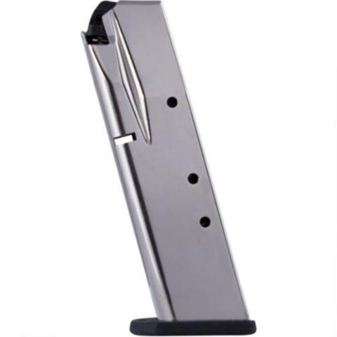 Mec-Gar Beretta 84 Cheetah  380 ACP 10 Round Magazine Steel Tube Polymer  Base Plate Nickel Finish