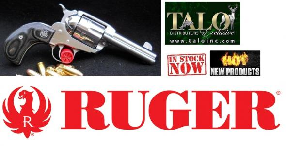 "Ruger Talo Vaquero Single Action Revolver .45 Colt 3.75"" Barrel 6 Rounds Birdshead Black Laminate Grips Satin Stainless Finish"