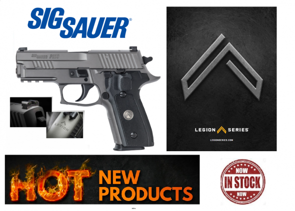 Sig Sauer P229 Legion 9mm 3.9 Inch Barrel Legion Gray PVD Finish High Visibility Day/Night Sights G-10 Grips 15 Round