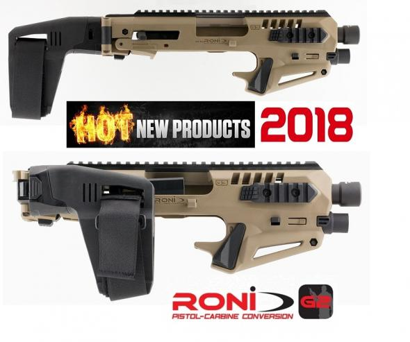Command Arms MICRONI STAB1 Micro Roni Pistol Glock 17/17C Gen 3&4 Aluminum/Polymer Flat Dark Earth RONI