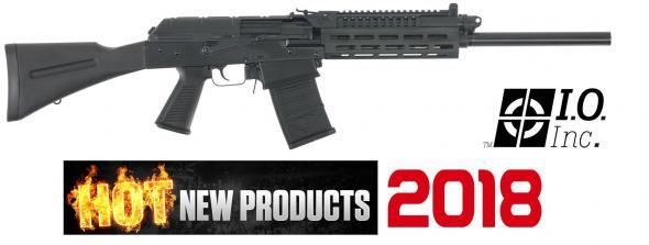 "I.O. EM12B EM-12B Semi-Automatic 12 Gauge 18.5"" 3"" 5+1 Synthetic Black w/Pistol Grip Black"