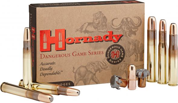 Hornady 82314 Dangerous Game 9 3mmx74R 300 GR Dangerous Game Solid 20 Round  Box