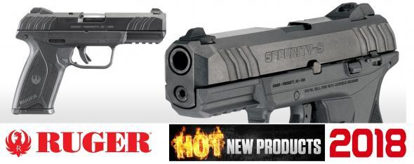 2018 Ruger Security-9 9mm Luger 4 Inch Barrel Blue Finish Drift Adjustable 3-Dot Sights 15 Round