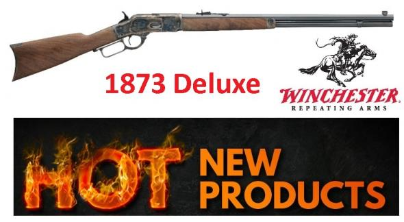 "Winchester 1873 Deluxe Sporter, .357/.38 24"" Octagon Barrel, Polished Blue Finish Grade II/III Walnut, 14 Round"
