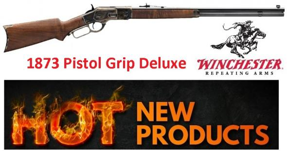 Winchester 73 1873 DELUXE SPORTER PISTOL GRIP MODEL WITH CASE HARDENED  RECEIVER, OCTAGON BARREL AND PISTOL GRIP STOCK