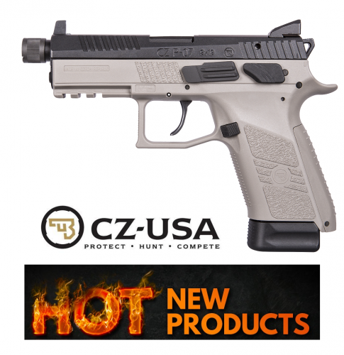 CZU CZ P-07 Suppressor Ready 9mm Luger 4.5 Inch Threaded Barrel High Tritium 3-Dot Sights Urban Grey Finish Black Slide 15 Round