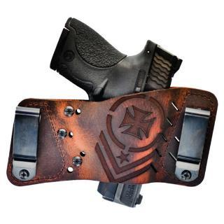 S/&W .38 Bodyguard Ambidextrous OWB Belt Slide Leather Holster Brown