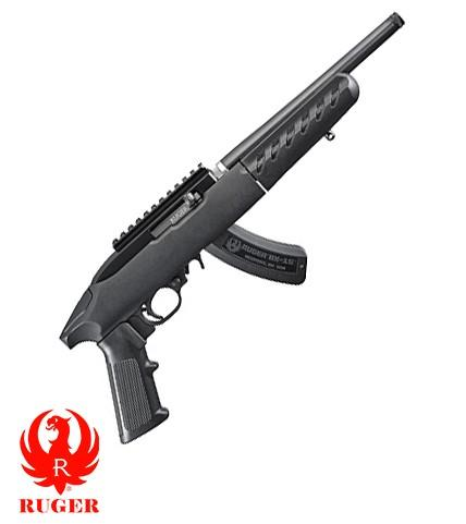 "Ruger, 22 Charger Takedown, Rimfire Pistol, 22 LR, 10"" Barrel, Matte Black Finish, A2-Style Grip, Black Polymer Stock, Picatinny Rail Installed, 15Rd"