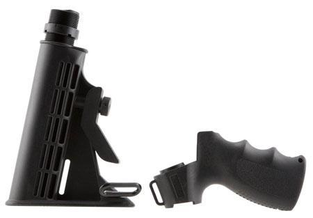 Aim Sports APGSM500 Mossberg 500 Shotgun Pistol Grip with 6-Position Stock  Aluminum/Polymer Black