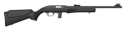 "Rossi, RS32, Semi-automatic Rifle, 22LR, 18"" Barrel, Black Finish, Synthetic Stock, 10Rd, Adjustable Fiber Optic Sights"