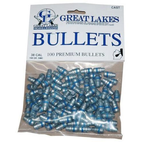 Great Lakes Bullets  40/10mm  401 155gr  Lead-rn 100ct