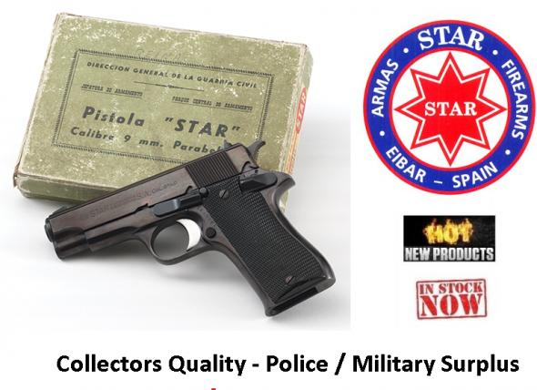 "STAR Pistola BM 9MM Grade-A (Micro 1911 Type) 8 Shot 4"" BBL Steel Frame 35oz MFG 1972-1992"