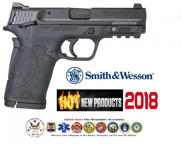 HOT 2018!! LAW S&W M&P Shield EZ .380 ACP 3.6 Inch Barrel Black Finish Polymer Frame White Dot Front Sight Adjustable White Dot Rear Sight Manual Thumb Safety 8 Round
