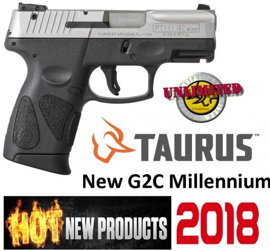 Taurus G2C Newest PT-111 Millennium 9mm 3.25 Inch Barrel Stainless Steel Finish Textured Finish 12 Round
