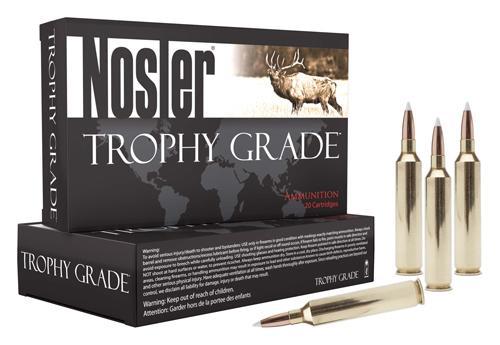 Nosler Ammo Trophy Grade  22 Nosler 70gr Accubond Tip 20 Rounds Per Box