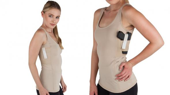 8f237ec45b101 Women s Concealed Carry Nude Tank Top X-Small