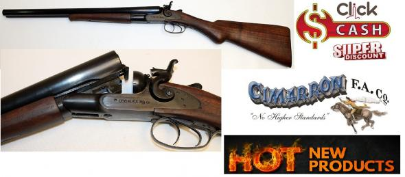 """Cimarron 1878 Hammer Coach Gun 12 Gauge/20"""" Barrel 3"""" Chamber"""