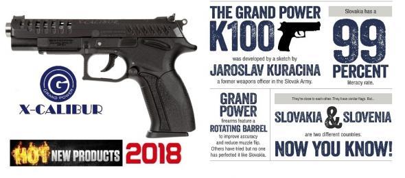 "Slovakia Grand Power X-CALIBUR, Semi-automatic, 9MM, 5"" Barrel, Polymer Frame, Blue Finish, 15Rd GPXCALIBUR"