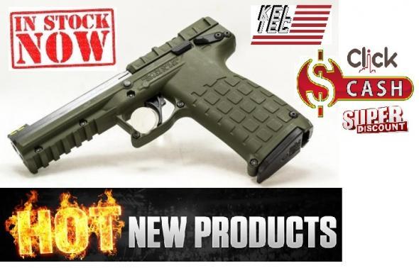 KEL-TEC PMR-30 OD GREEN .22 Winchester Magnum Rimfire 4.3 Inch Barrel Fiber Optic Sights Picatinny Rail Blue Slide Cerakote OD Green Grip/Frame 30 Round