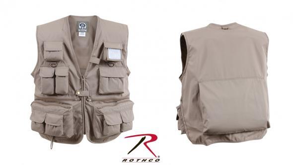 59ce3c12c AWH Arms & Ammo | Rothco Uncle Milty Travel Vest Khaki XL