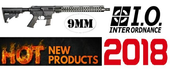 "I.O. Colt AR-15 9MM Type M215 KM15 9MM KEYMOD 16"" - Takes Glock Magazines"