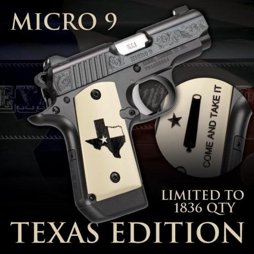 Kimber Micro9 Texas Limited 2018 Edition Only 1836 Units