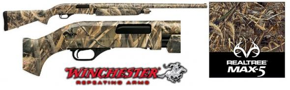 "Winchester SXP Waterfowl Hunter Pump Action Shotgun 12 Gauge 28"" Barrel 3.5"" Chamber 4 Rounds Synthetic Stock Realtree Max-5 Camo Finish"
