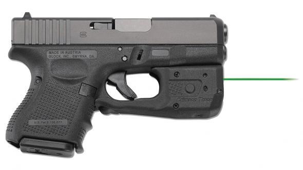 Crimson Trace Corporation, Laserguard PRO, Laser and Light, Fits Glock  26/27/33, Black Finish, 150 Lumen LED, Green Laser, User Installed,  Instinctive