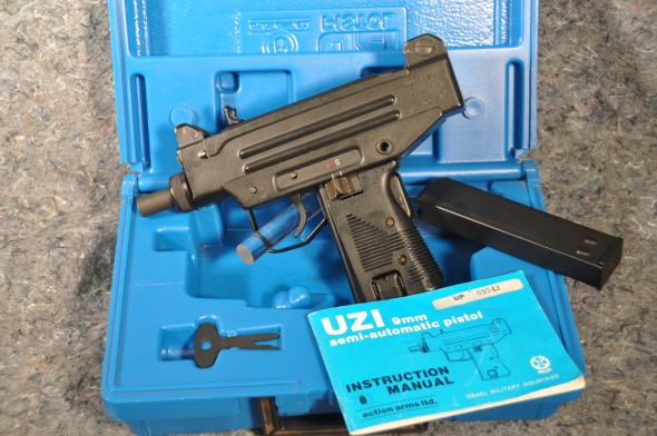 IMI ACTION ARMS UZI PISTOL PRE-BAN 9MM MADE IN ISERAL MFG 1984-1993