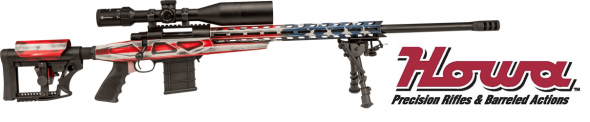 "Howa, HCR Chassis, 6.5 Creedmoor, Bolt Action, 26"" Barrel, American Flag Paint Finish"