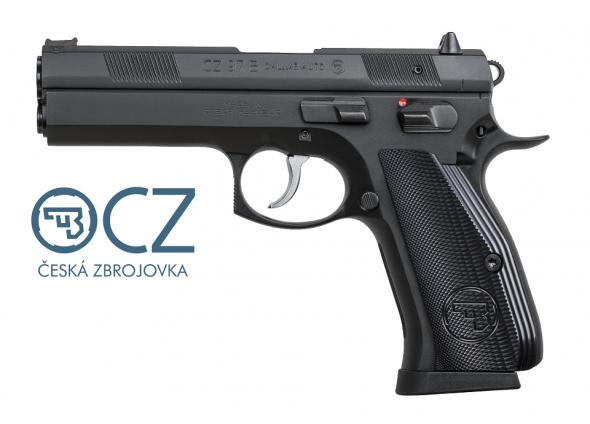 CZ 97B Big Bore .45 ACP 4.5 Inch Barrel Black Polycoat Finish Fiber Optic Front Sight Two Dot Rear Sight10 Round