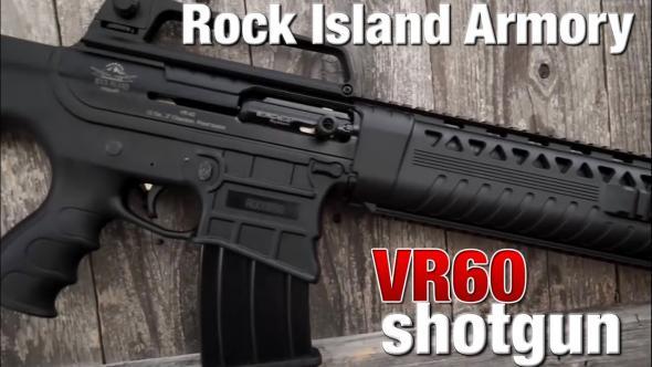 "Rock Island 601BC VR60 Shotgun Semi-Automatic 12 Gauge 20"" 3"" Black Synthetic Stock Aluminum Alloy Rcvr"