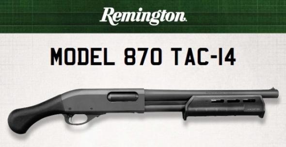 """Remington TAC-14 12 GA 14"""" 870 Firearm"""